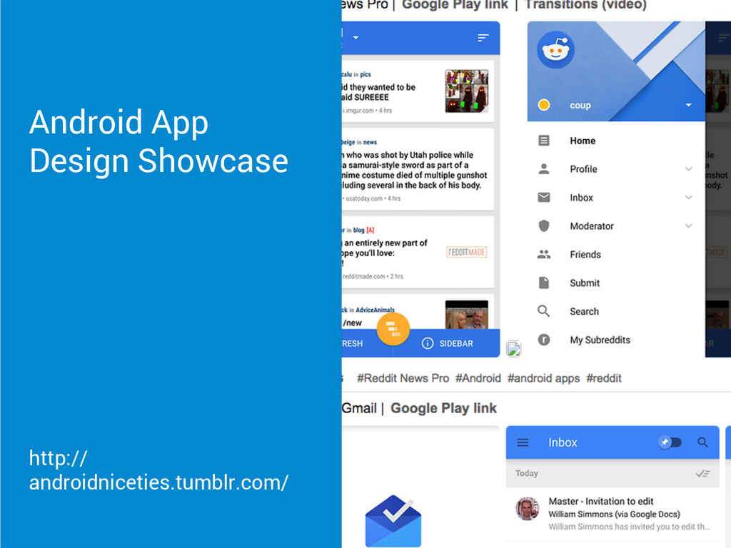 Android App Design Showcase http:// androidnice...