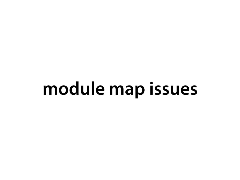 module map issues