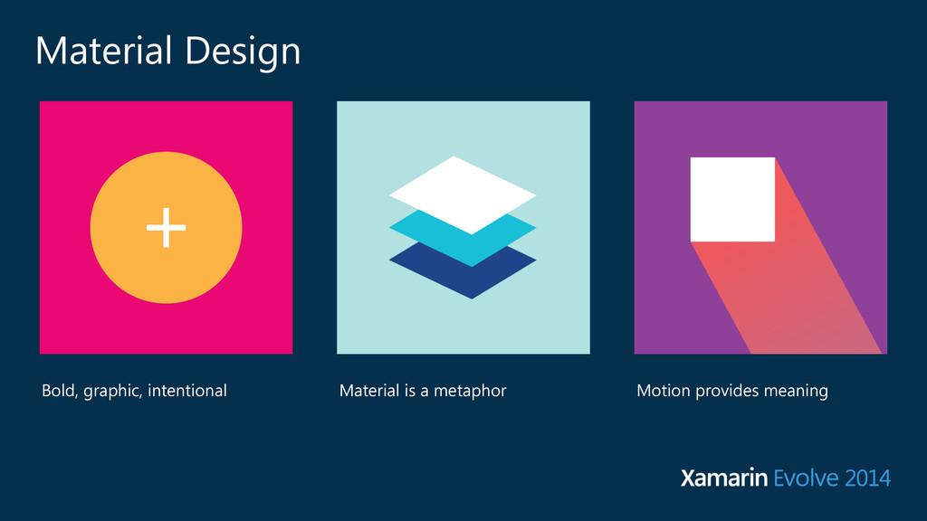 Material Design Material is a metaphor Bold, gr...