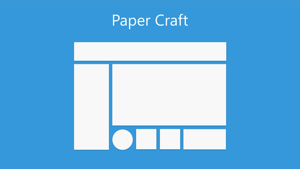 GUIDELINES – DO NOT USE SLIDE Paper Craft