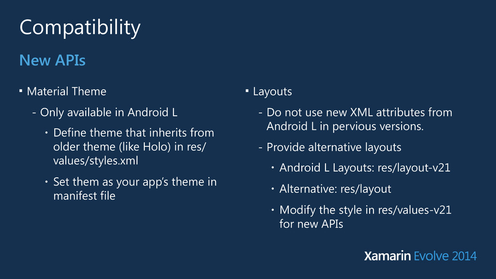 Compatibility ■ Material Theme - Only available...