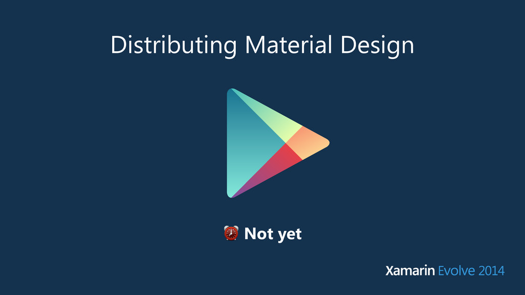 Distributing Material Design ⏰ Not yet