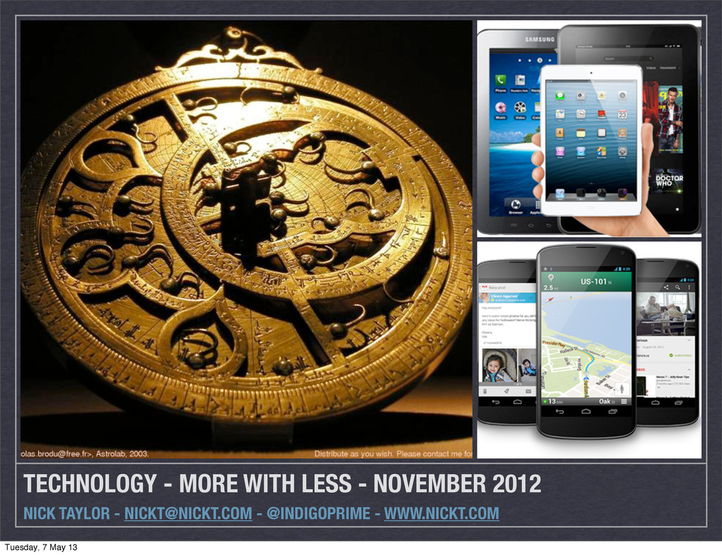 TECHNOLOGY - MORE WITH LESS - NOVEMBER 2012 NIC...