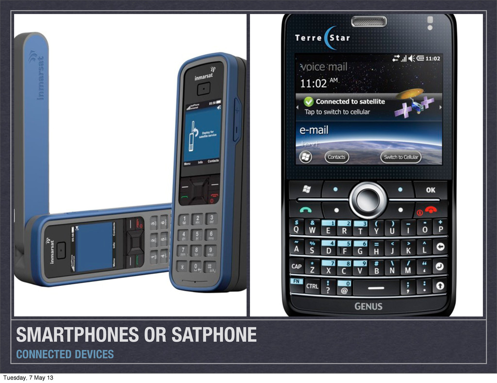 SMARTPHONES OR SATPHONE CONNECTED DEVICES Tuesd...