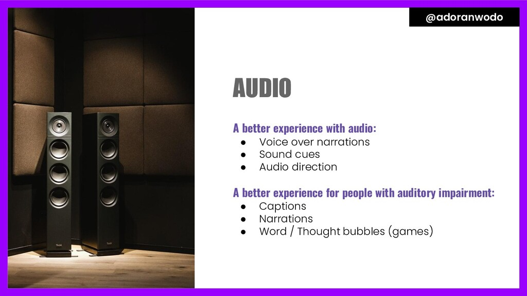A better experience with audio: ● Voice over na...