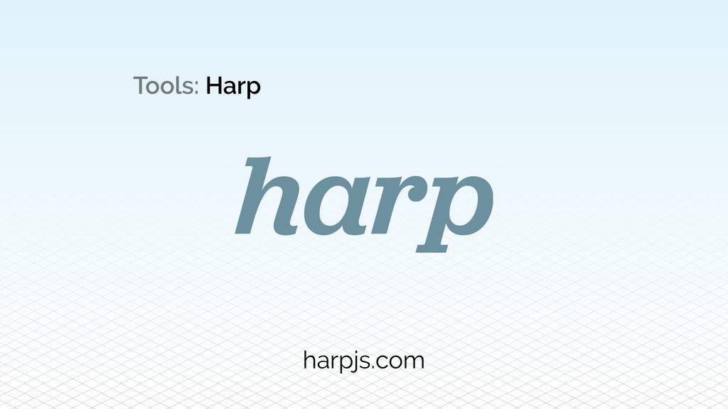 Tools: Harp harpjs.com