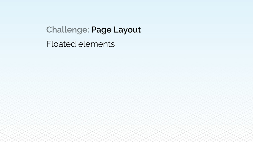 Challenge: Page Layout Floated elements