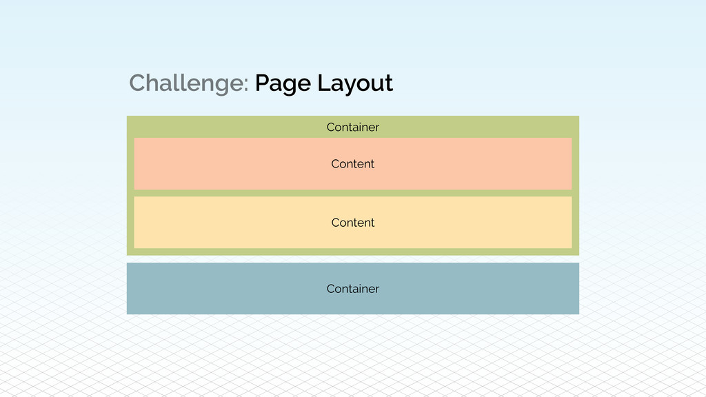 Challenge: Page Layout Content Content Containe...