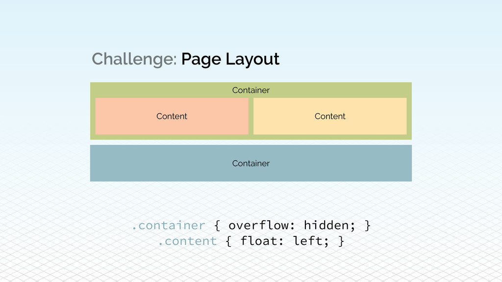 Container Challenge: Page Layout Content Conten...
