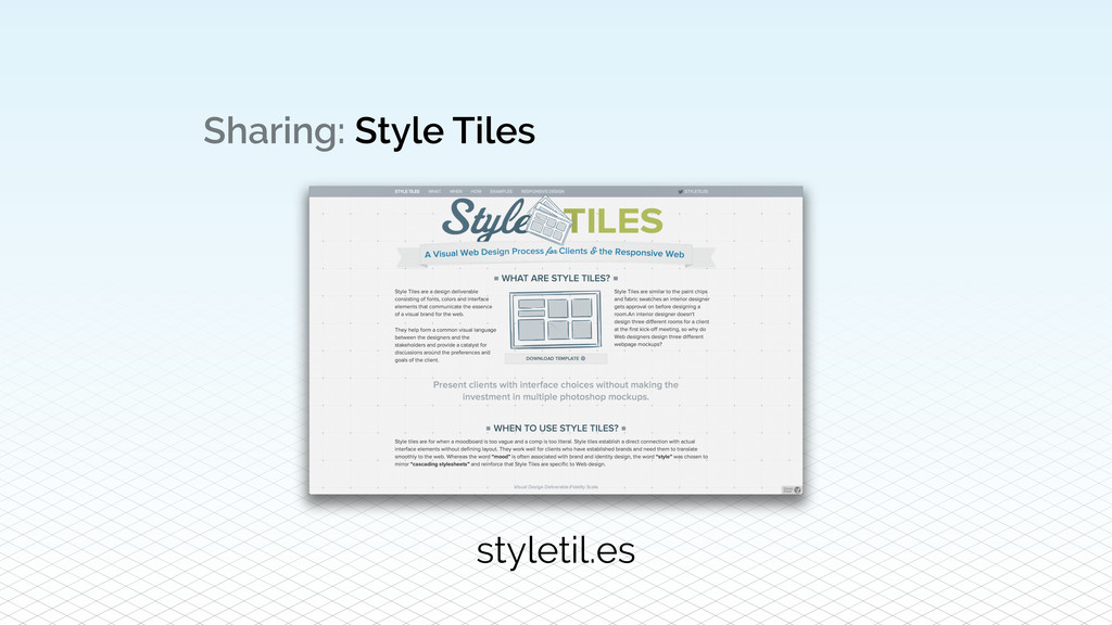 Sharing: Style Tiles styletil.es