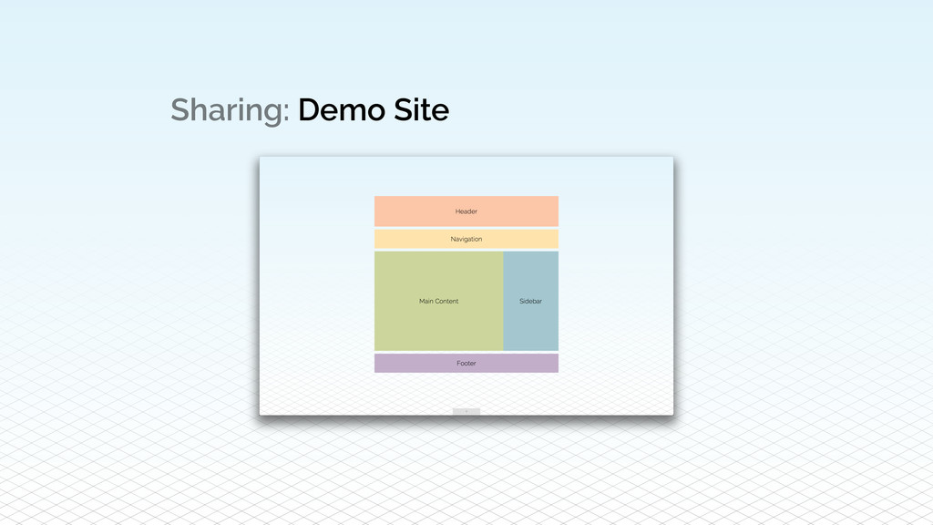 Sharing: Demo Site