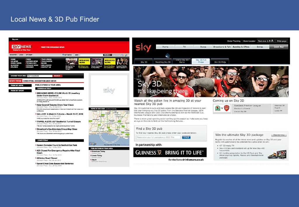 Local News & 3D Pub Finder