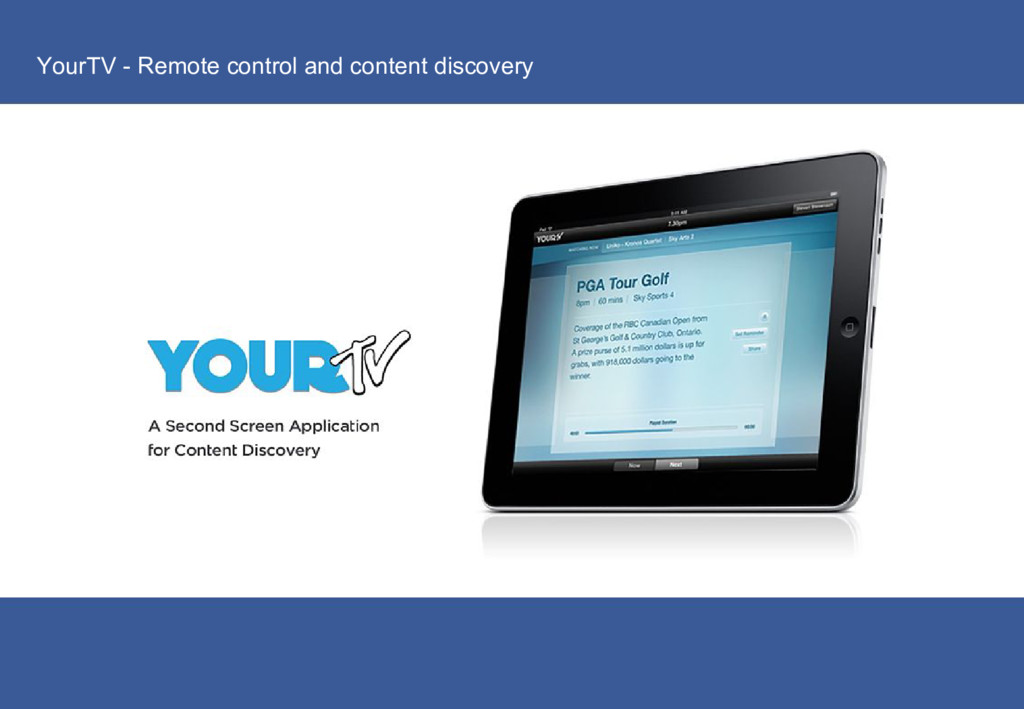 YourTV - Remote control and content discovery