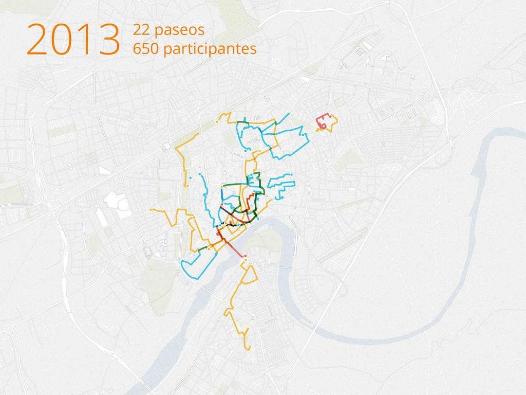 2013 22 paseos 650 participantes