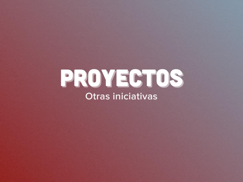 Otras iniciativas proyectos