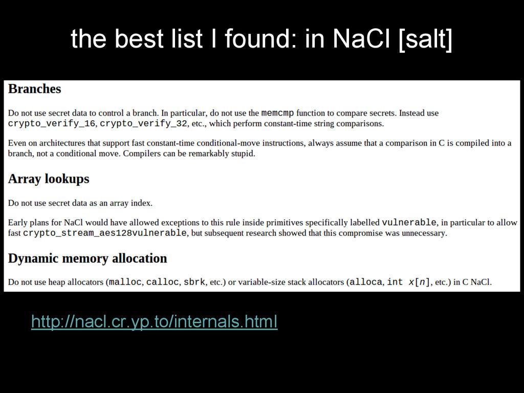 the best list I found: in NaCl [salt] http://na...