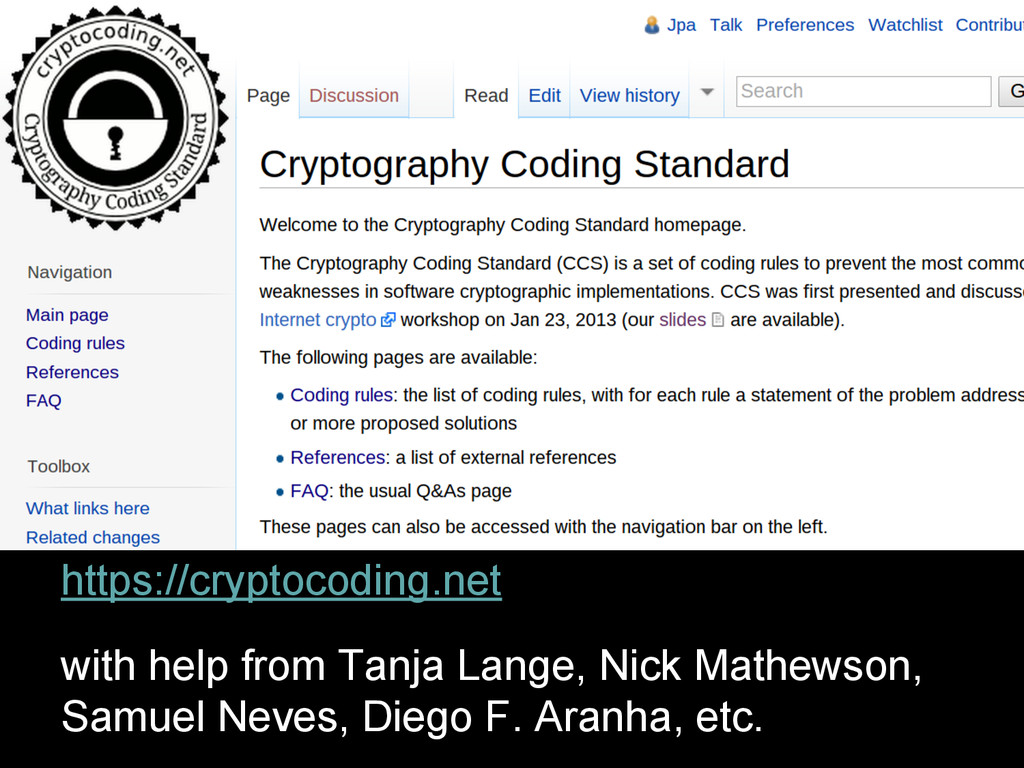 https://cryptocoding.net with help from Tanja L...