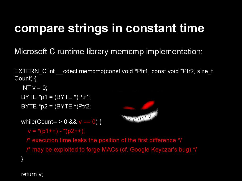 compare strings in constant time Microsoft C ru...