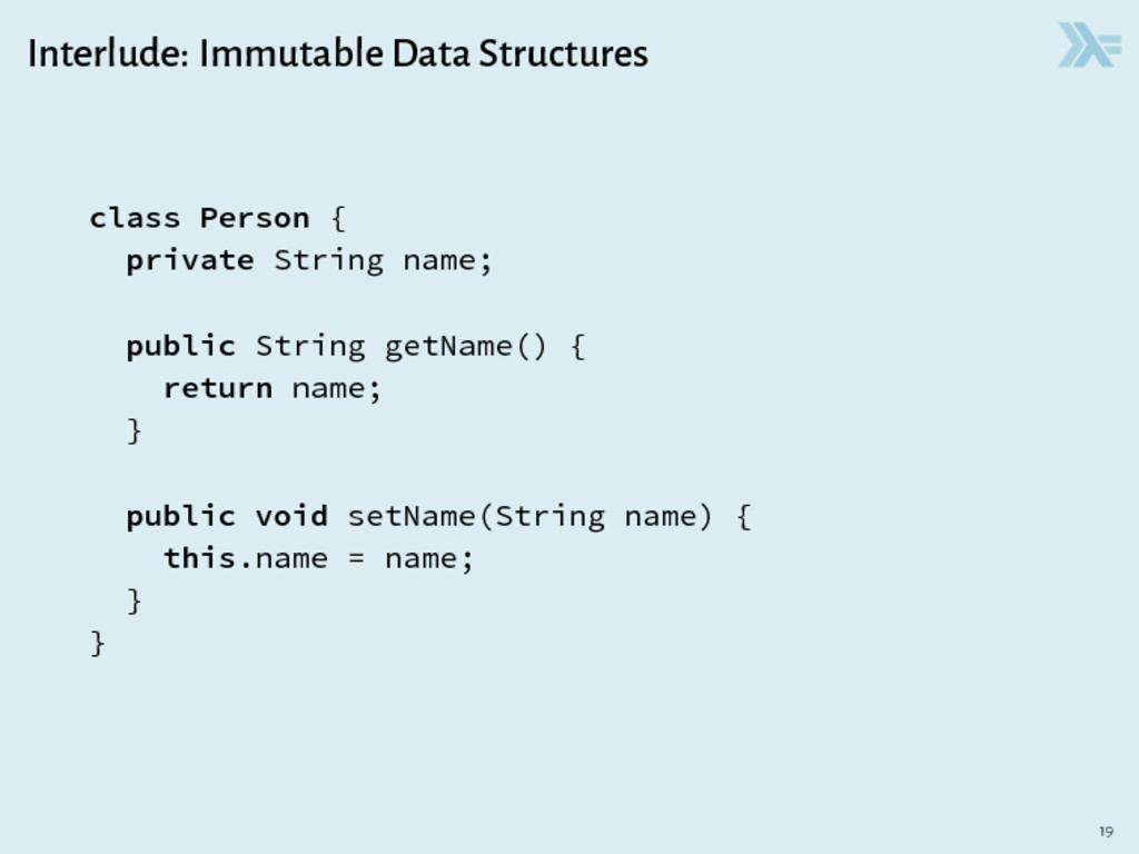 Interlude: Immutable Data Structures class Pers...
