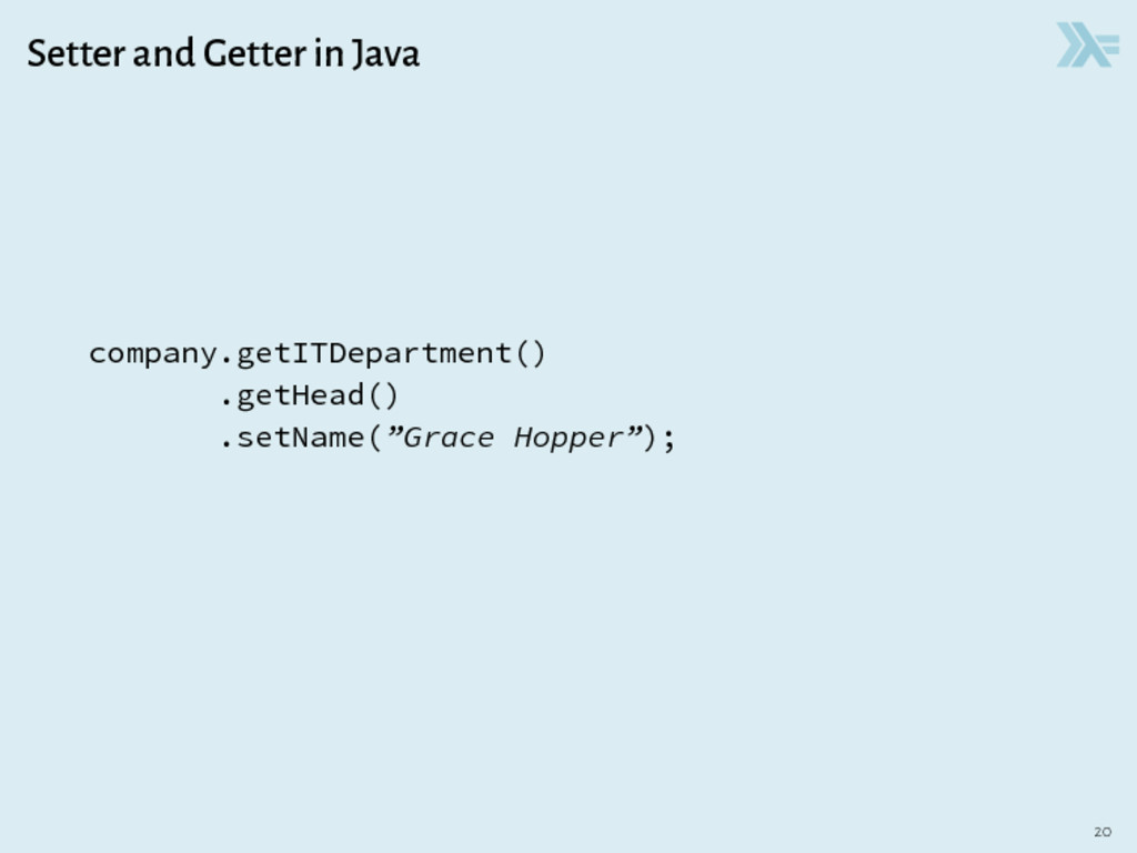 Setter and Getter in Java company.getITDepartme...
