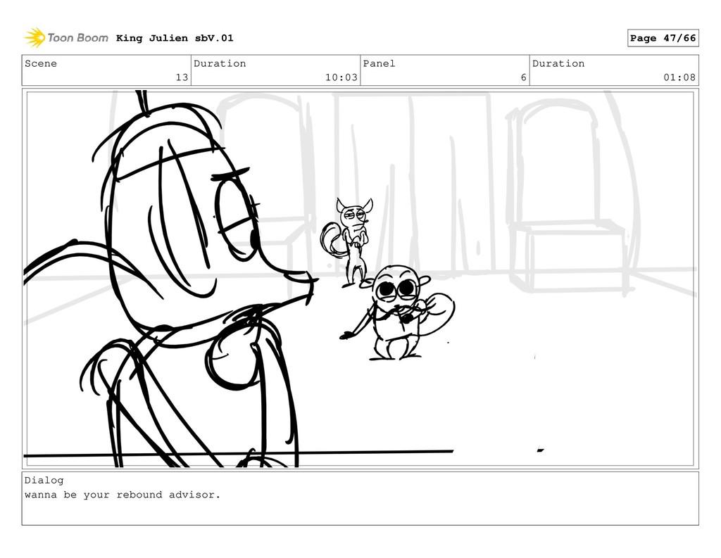 Scene 13 Duration 10:03 Panel 6 Duration 01:08 ...