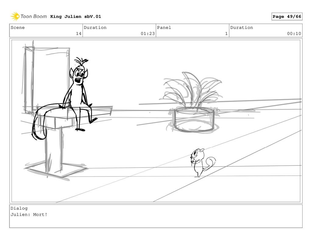 Scene 14 Duration 01:23 Panel 1 Duration 00:10 ...