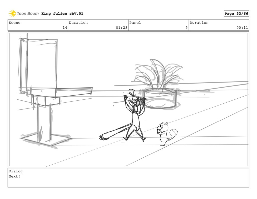 Scene 14 Duration 01:23 Panel 5 Duration 00:11 ...