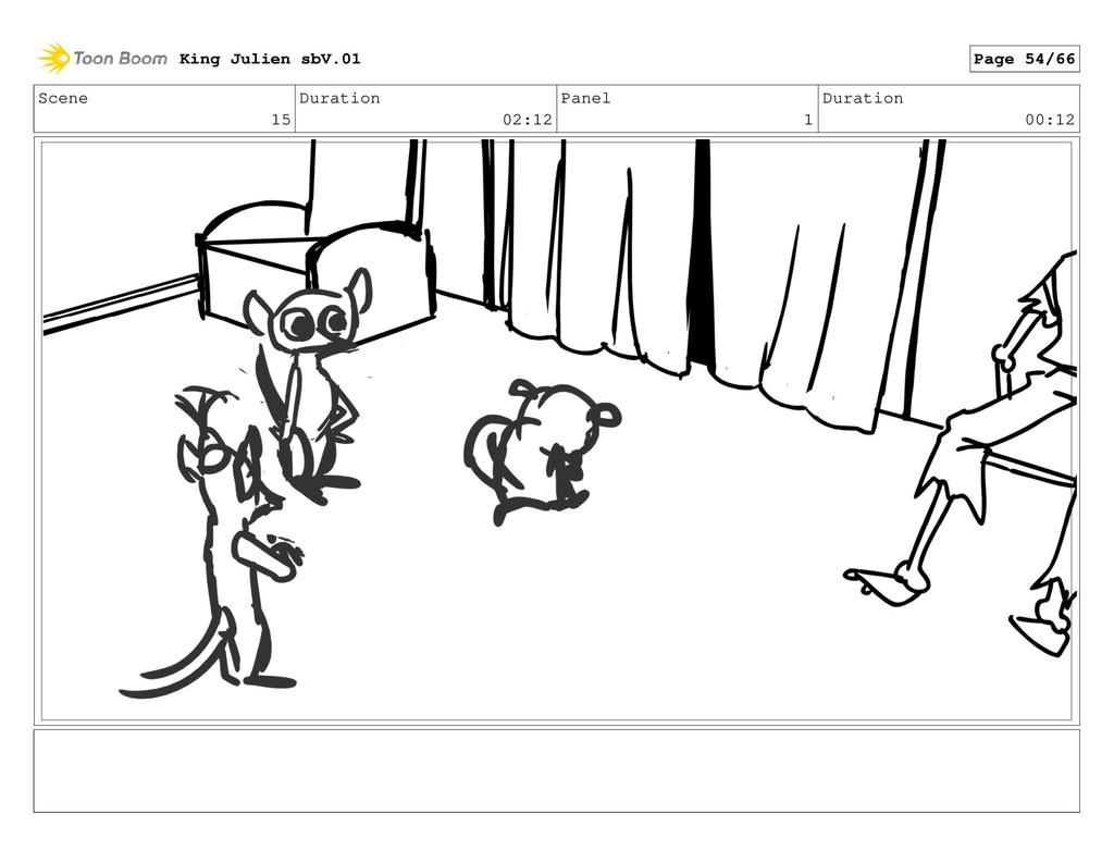 Scene 15 Duration 02:12 Panel 1 Duration 00:12 ...
