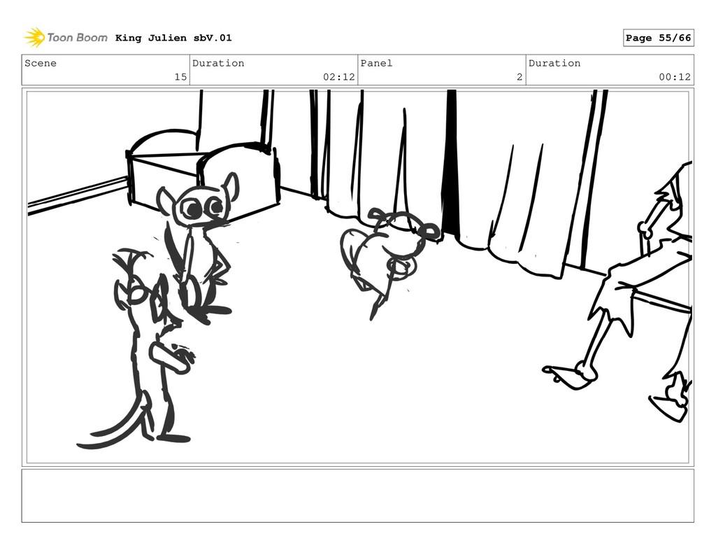 Scene 15 Duration 02:12 Panel 2 Duration 00:12 ...