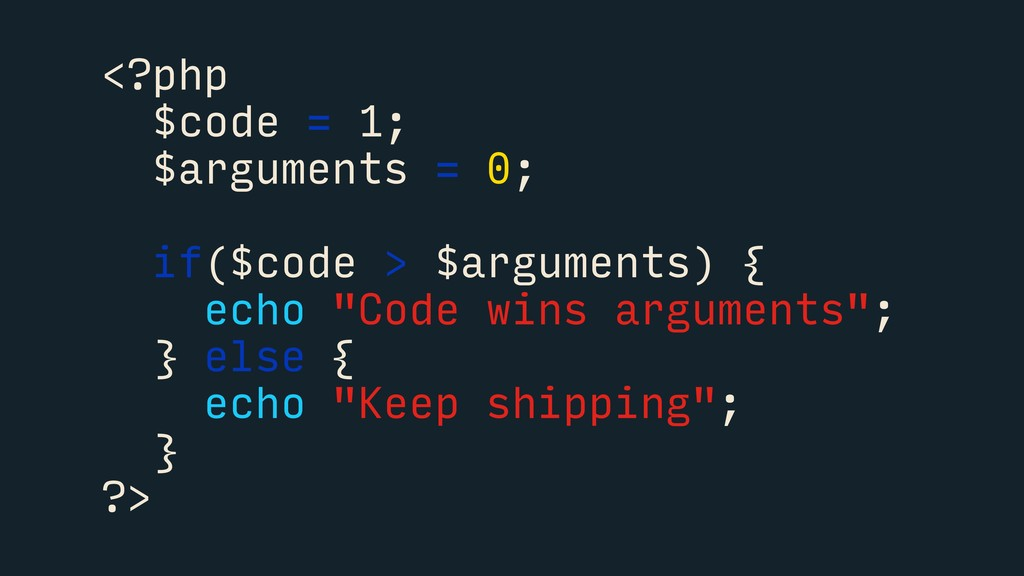 <?php $code = 1; $arguments = 0; if($code > $ar...