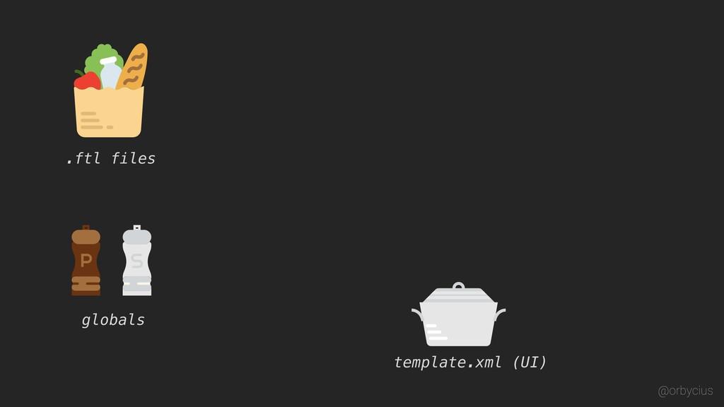 template.xml (UI) .ftl files globals @orbycius