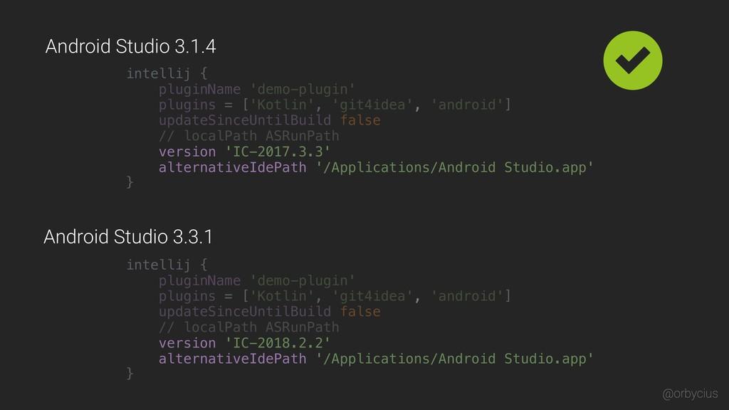 intellij { pluginName 'demo-plugin' plugins = [...