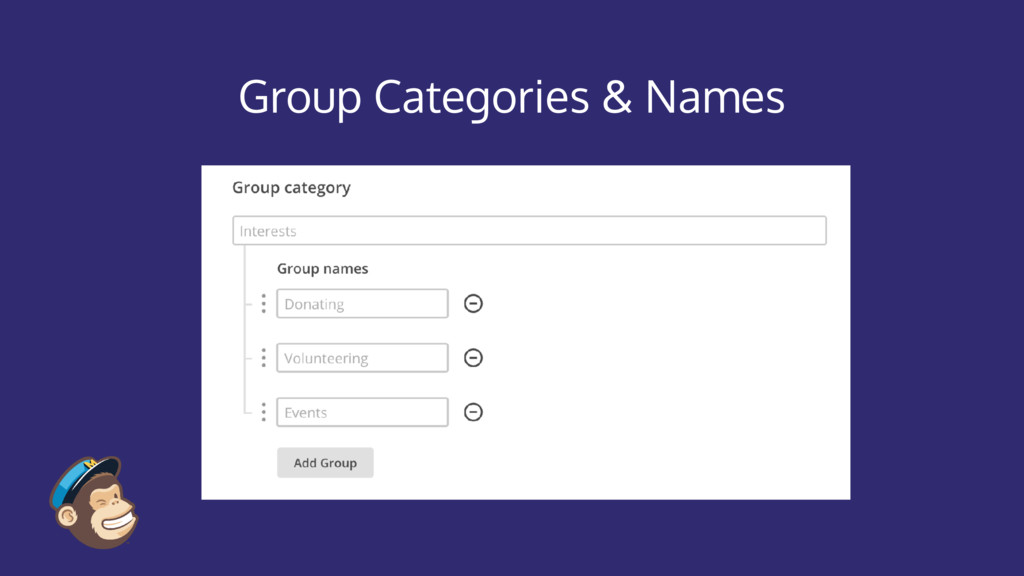 Group Categories & Names