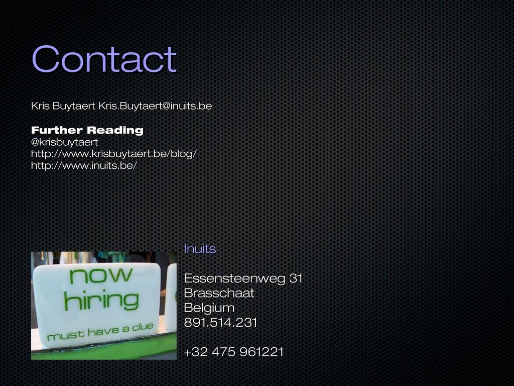 Contact Contact Kris Buytaert Kris Buytaert Kri...