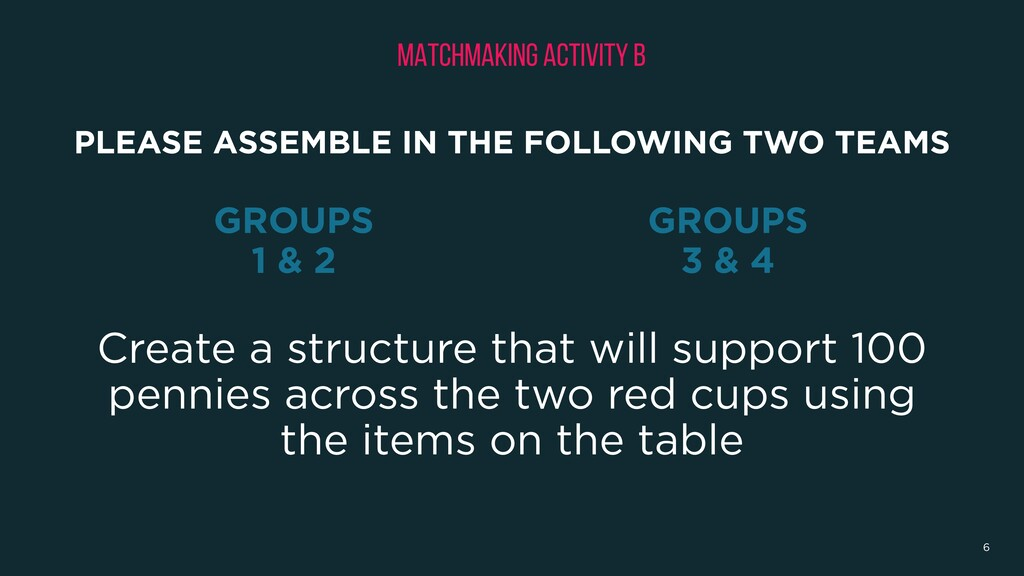Create a structure that will support 100 pennie...