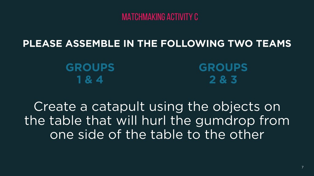 Create a catapult using the objects on the tabl...