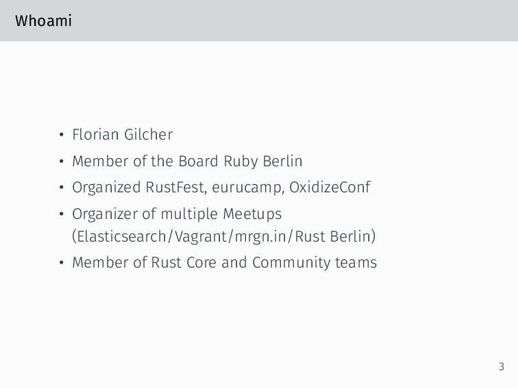 Whoami • Florian Gilcher • Member of the Board ...