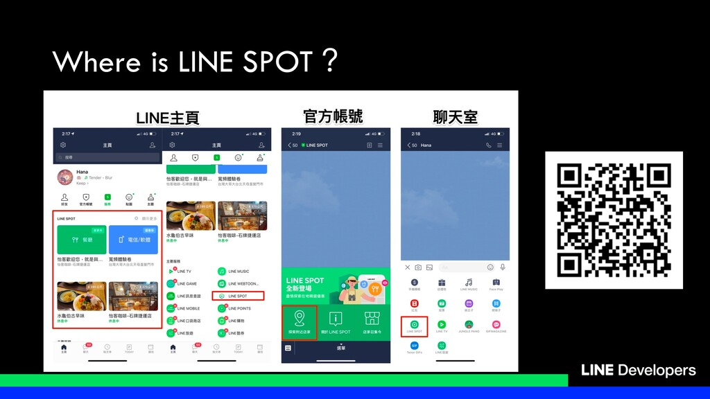 Where is LINE SPOT?