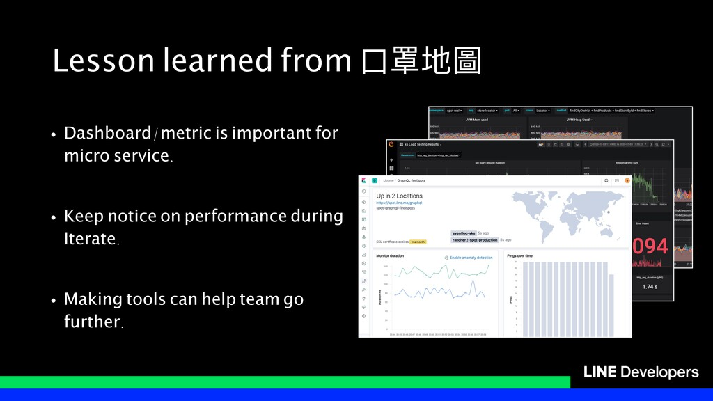 Lesson learned from ⼝口罩地圖 • Dashboard/metric is...