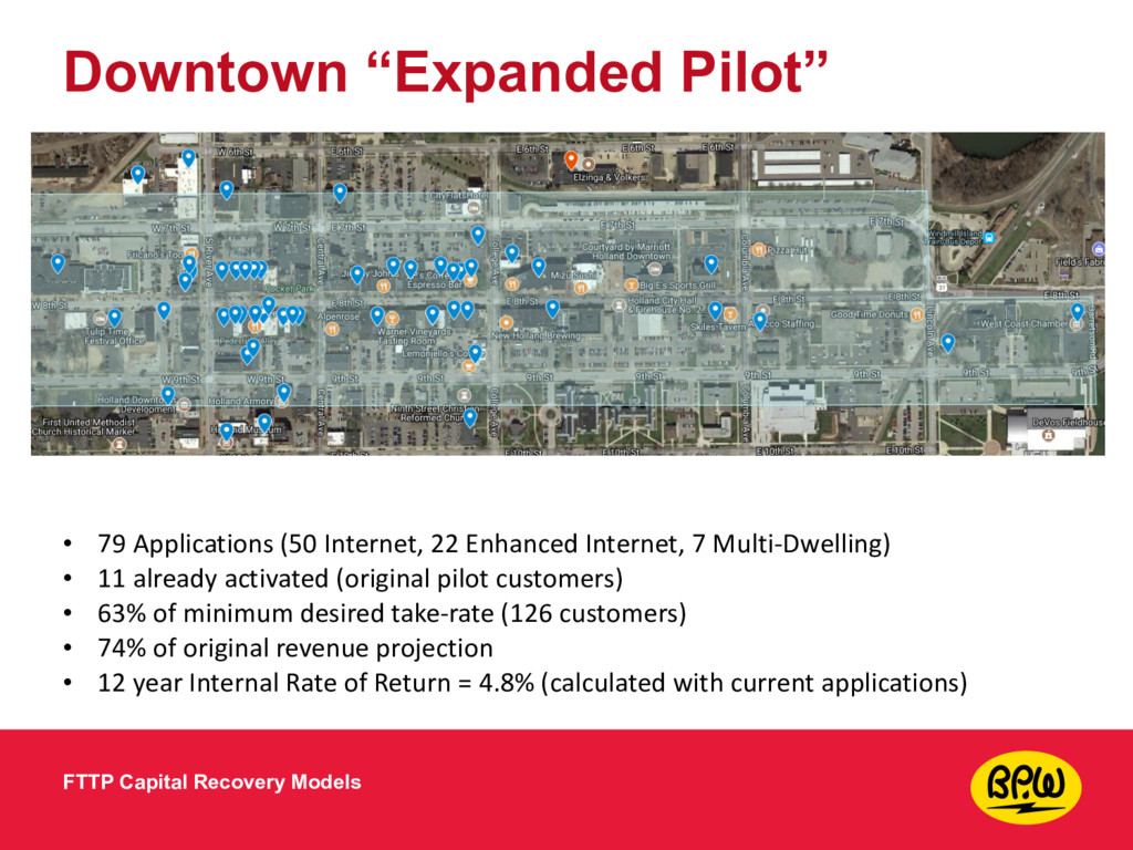 """Downtown """"Expanded Pilot"""" FTTP Capital Recovery..."""
