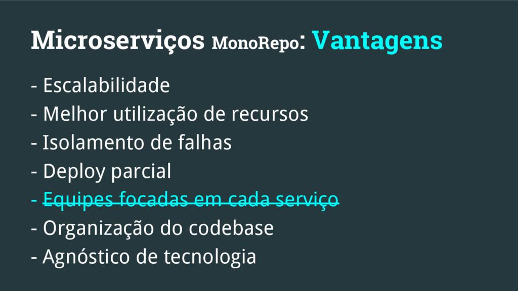 Microserviços MonoRepo: Vantagens - Escalabilid...