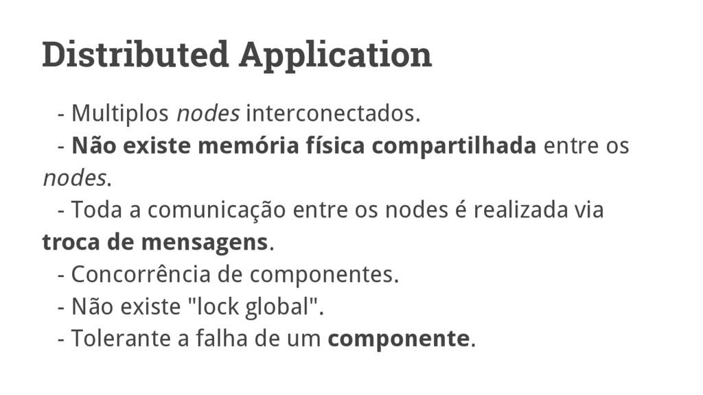 Distributed Application - Multiplos nodes inter...
