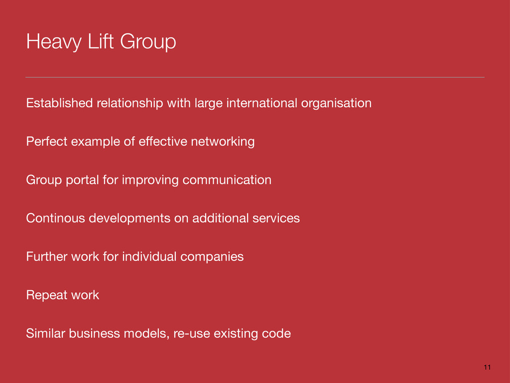 Heavy Lift Group Established relationship with ...