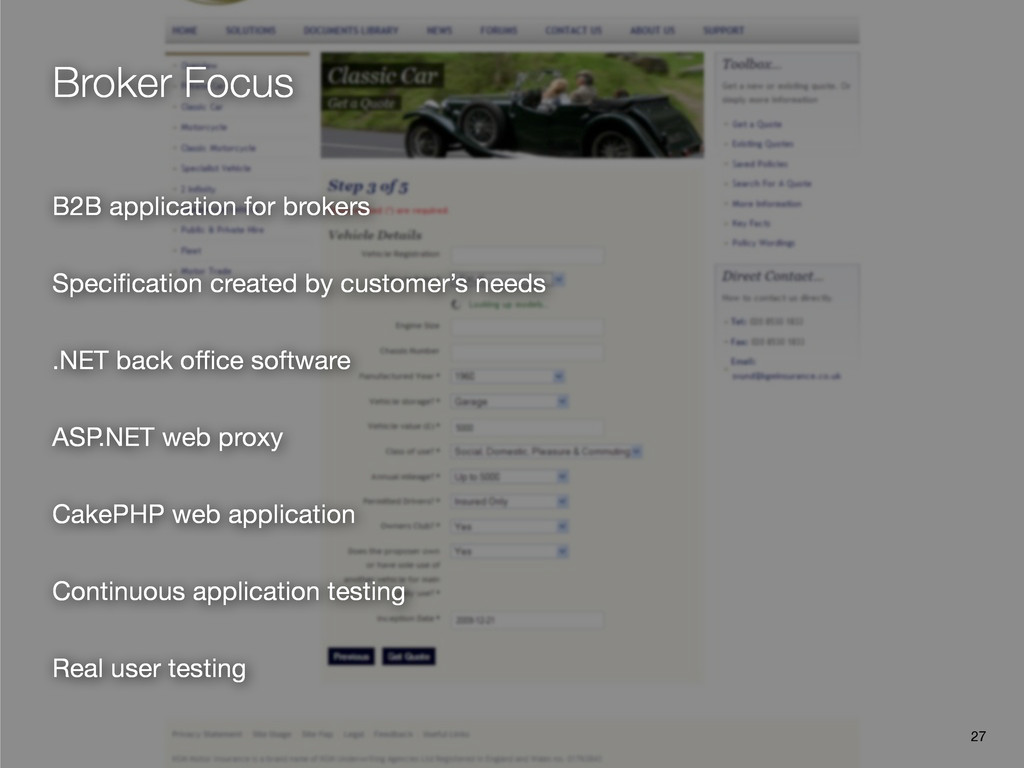 Broker Focus B2B application for brokers Specifi...