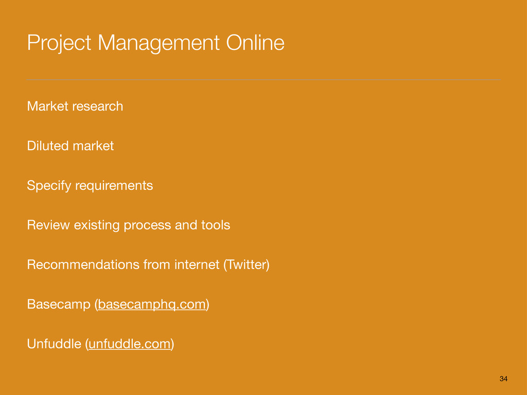 Project Management Online Market research Dilut...
