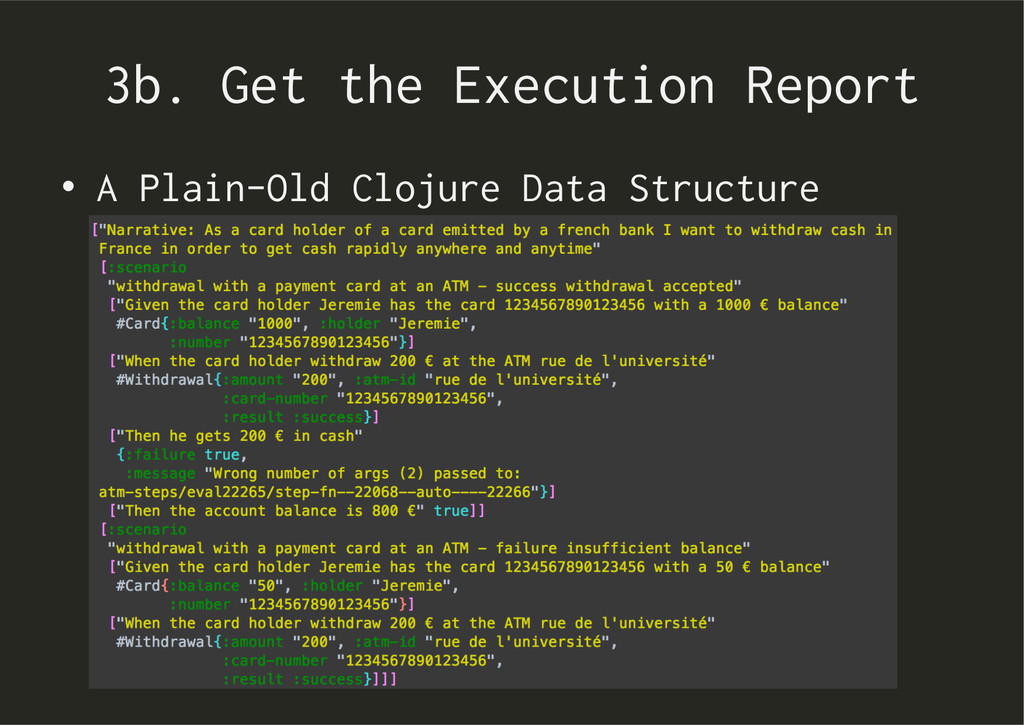 3b. Get the Execution Report • A Plain-Old Clo...
