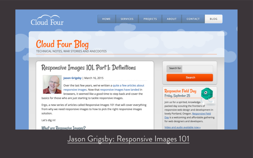 Jason Grigsby: Responsive Images 101