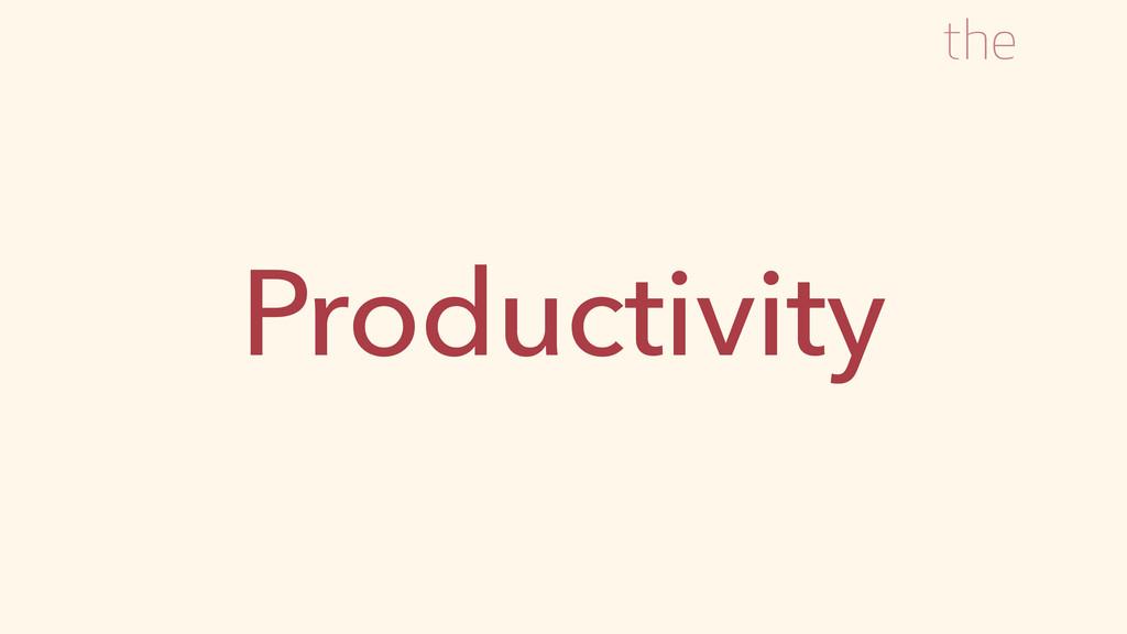 Productivity the