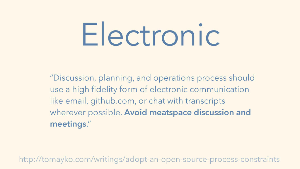"Electronic ""Discussion, planning, and operation..."