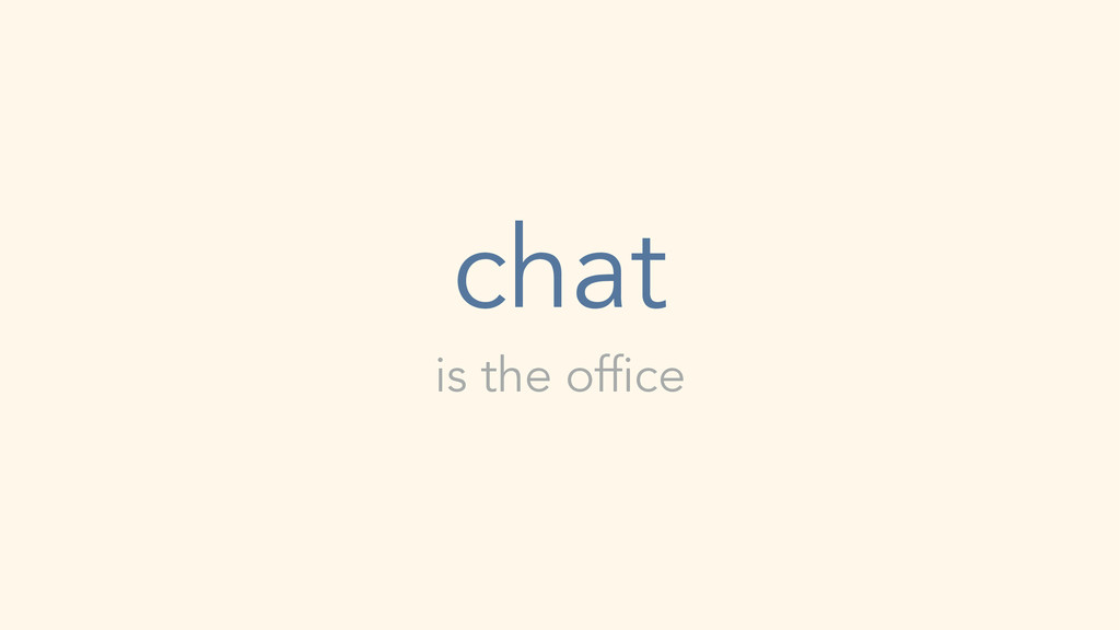 is the office chat